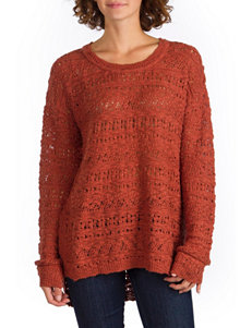 Union Bay Orange Open Knit Sweater