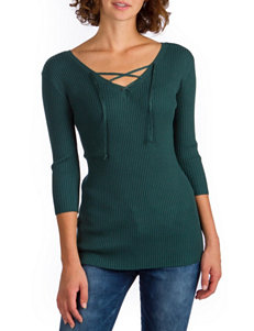 Union Bay Green Ribbed Knit Top