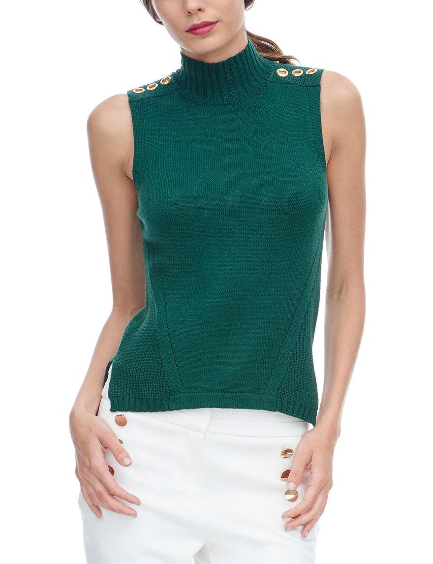 XOXO Green Sweaters Tees & Tanks