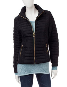 YMI Black Puffer & Quilted Jackets