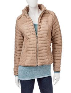 YMI Beige Puffer & Quilted Jackets