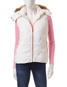 YMI White Quilted Puffer Vest