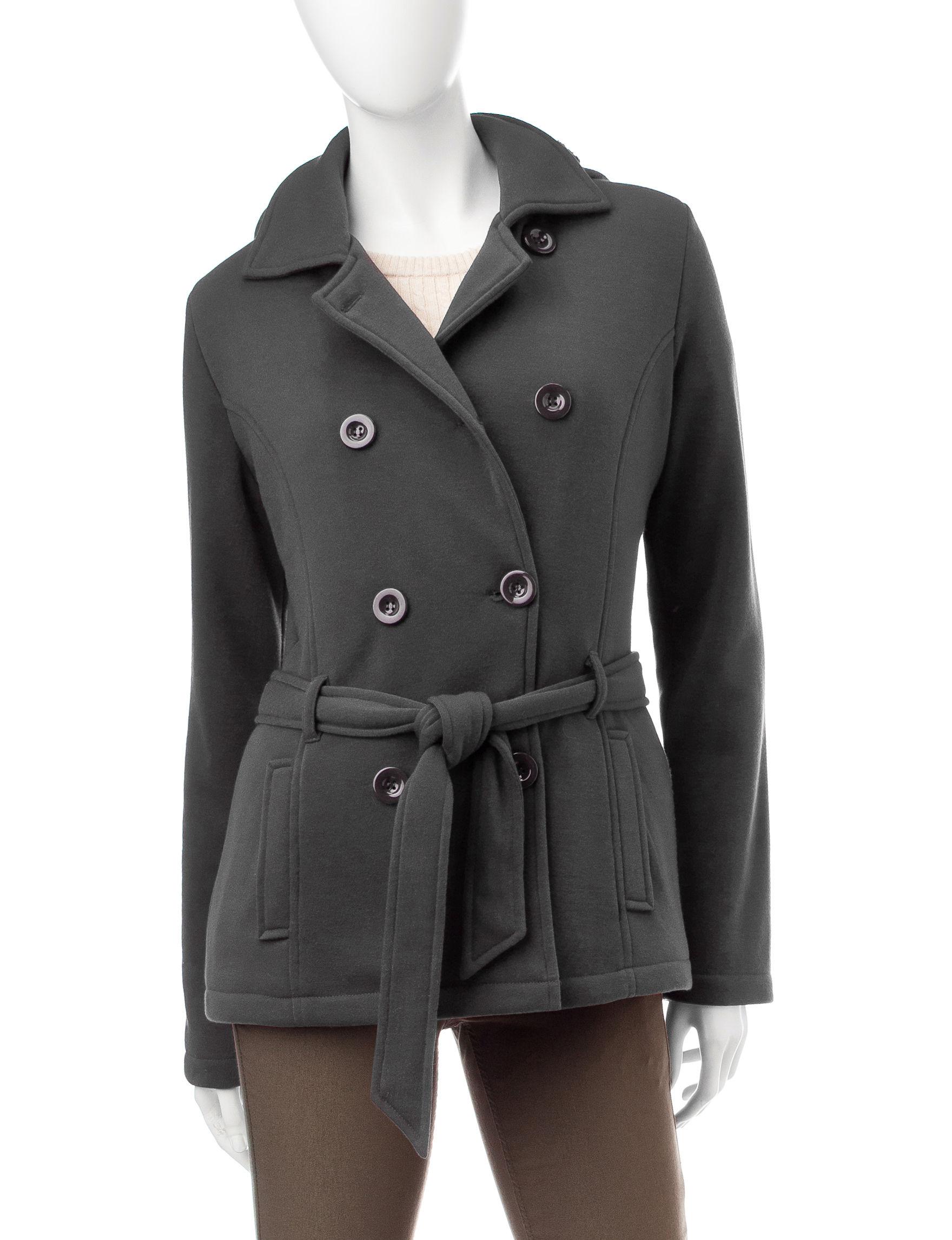 YMI Charcoal Fleece & Soft Shell Jackets