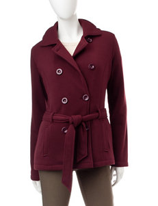 YMI Burgundy Fleece & Soft Shell Jackets