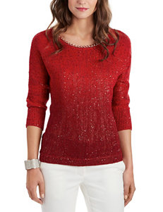 XOXO Red Ombre Sequin Sweater
