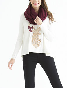 Self Esteem 2-pc. Deer Print Top & Scarf Set
