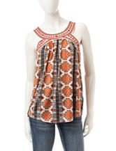 Jolt Multicolor Tribal Print Top