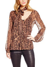 Jessica Simpson Abstract Print Top