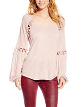 Jessica Simpson Pink Triangle Cut-out Top