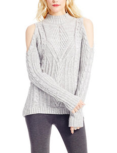 Jessica Simpson Grey Cold Shoulder Sweater