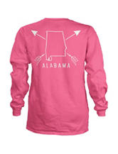 Alabama Pink Archer Top