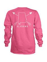 Alabama Pink Archer Top