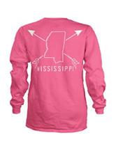 Mississippi Pink Archer Top