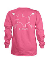 Texas Pink Archer Top