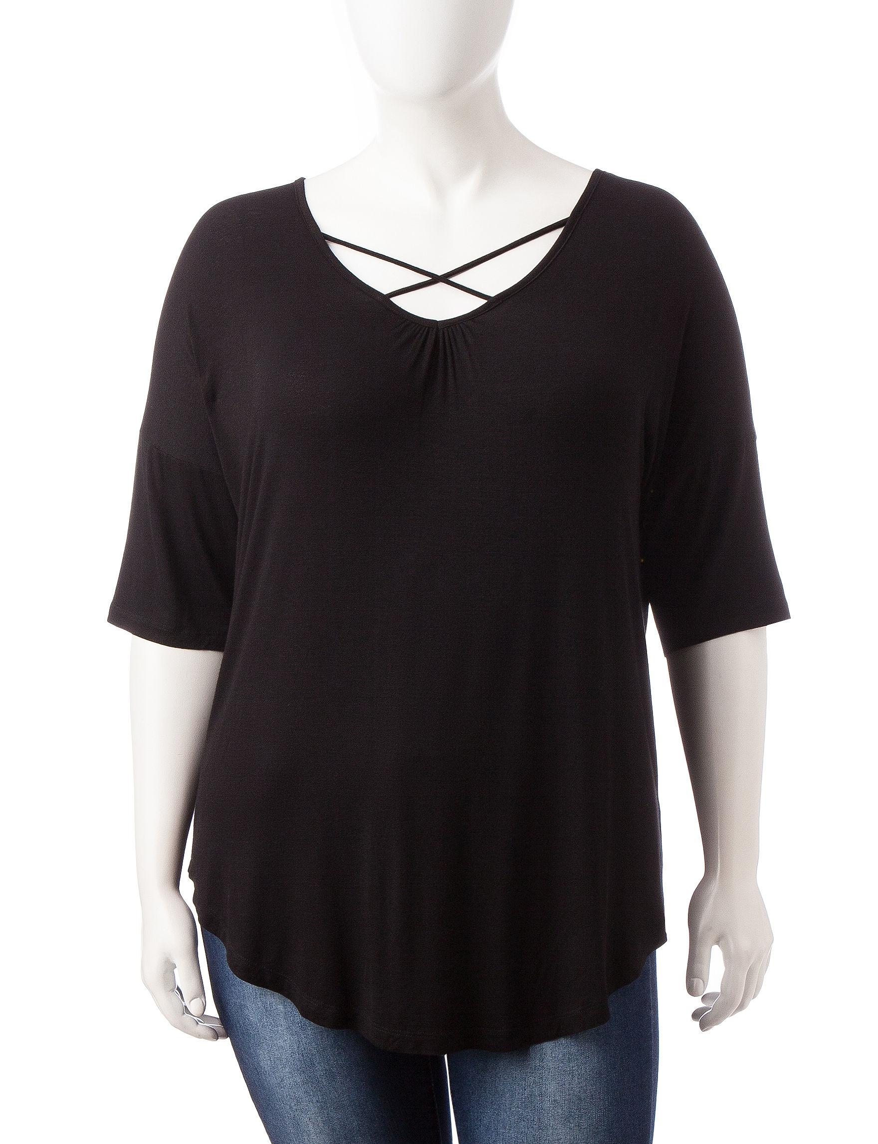 Justify Black Shirts & Blouses