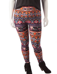 Justify Juniors-plus Multicolor Aztec Print Leggings