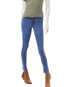 Almost Famous Button Up High Waisted Jeans