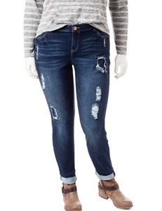 Almost Famous Juniors-plus Roll Cuff Jeans