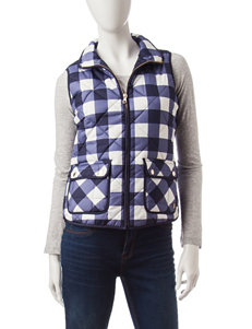 U.S. Polo Assn. Navy & White Buffalo Plaid Print Vest