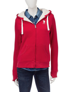 U.S. Polo Assn. Red Fleece & Soft Shell Jackets