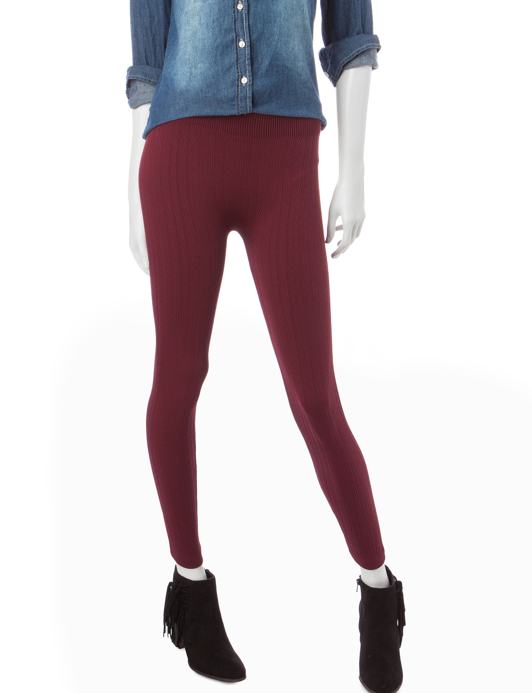 Extra Touch Wine Leggings