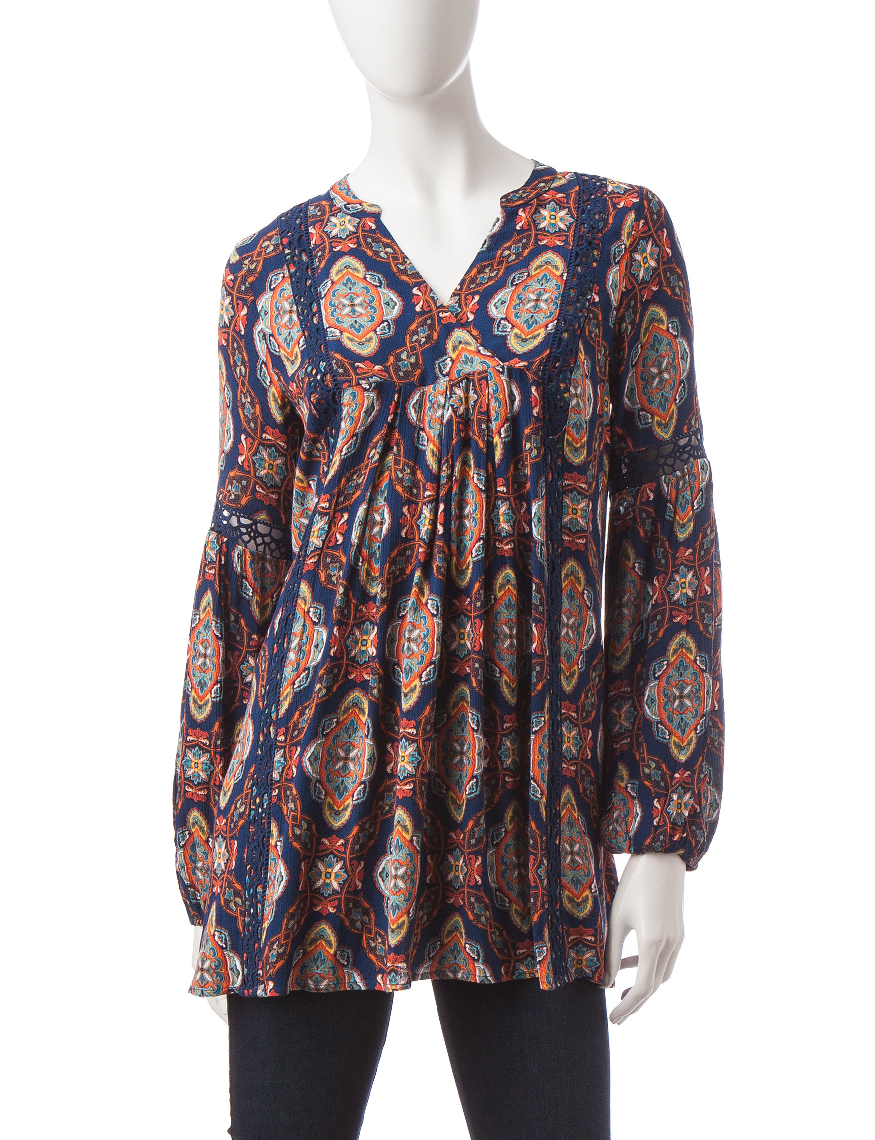 Signature Studio White / Multi Shirts & Blouses