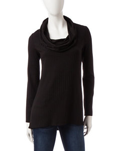 AGB Black Ribbed Knit Sweater