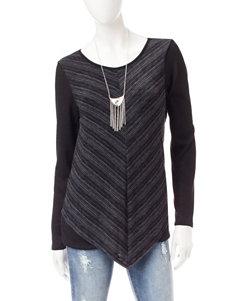 AGB Black Shirts & Blouses