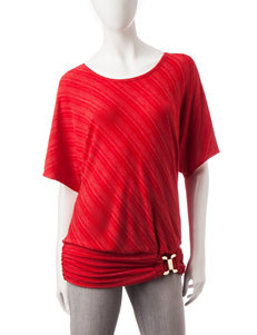 AGB Red Shirts & Blouses