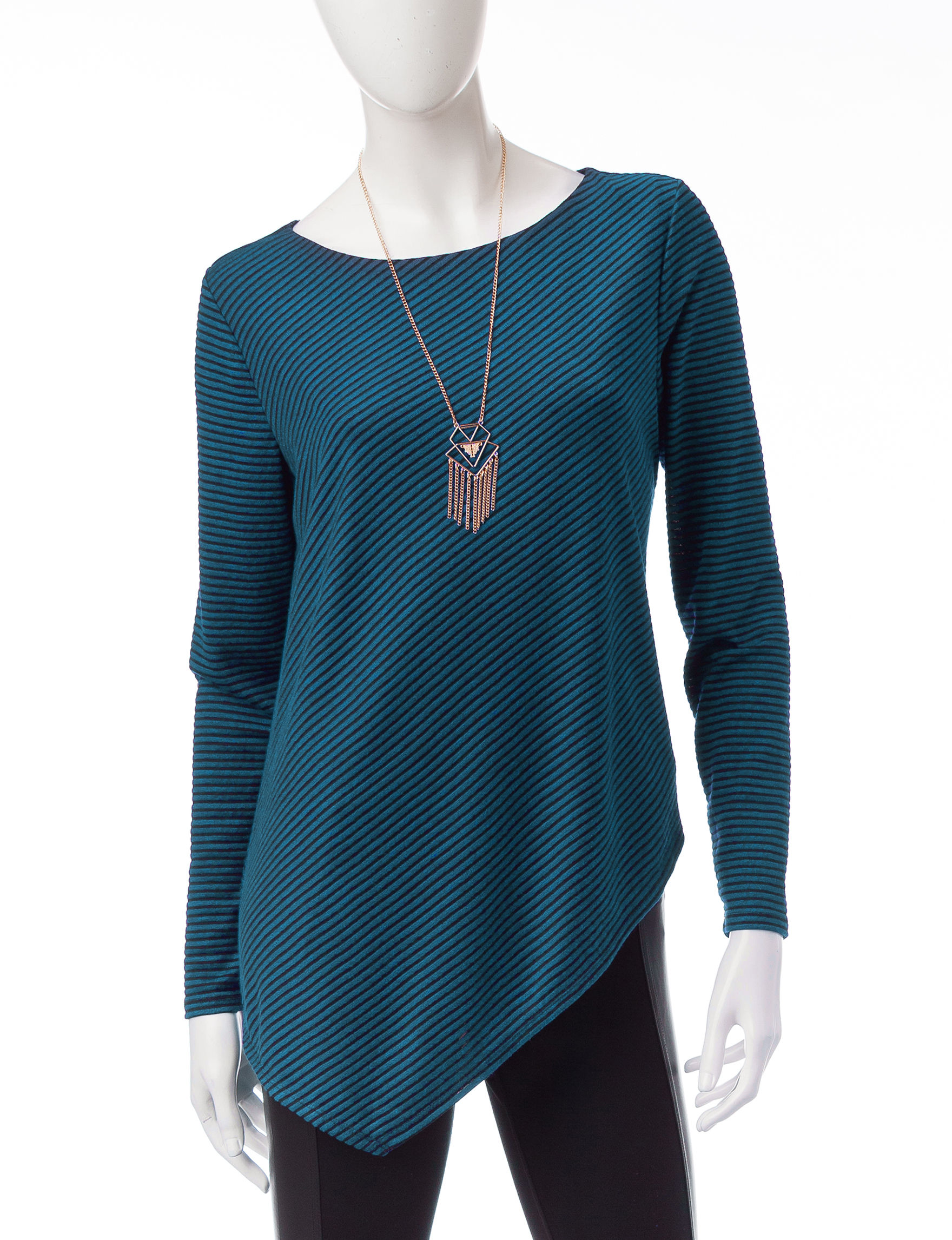 AGB Teal Pull-overs Sweaters