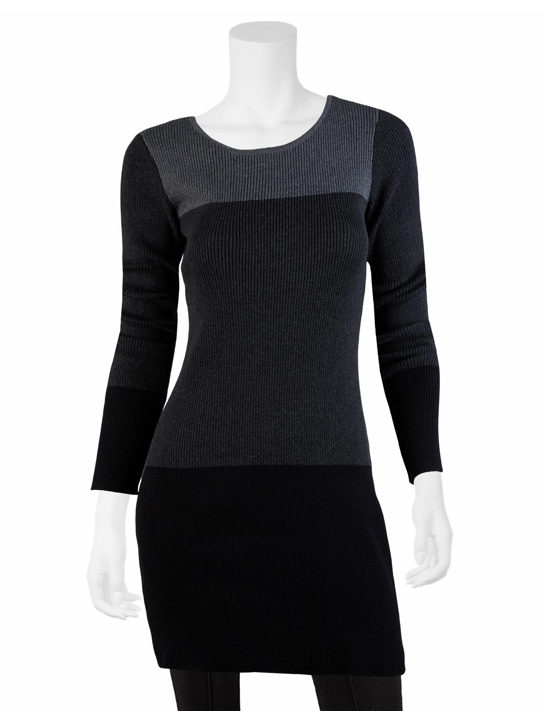 A. Byer Black Sweaters Tunics