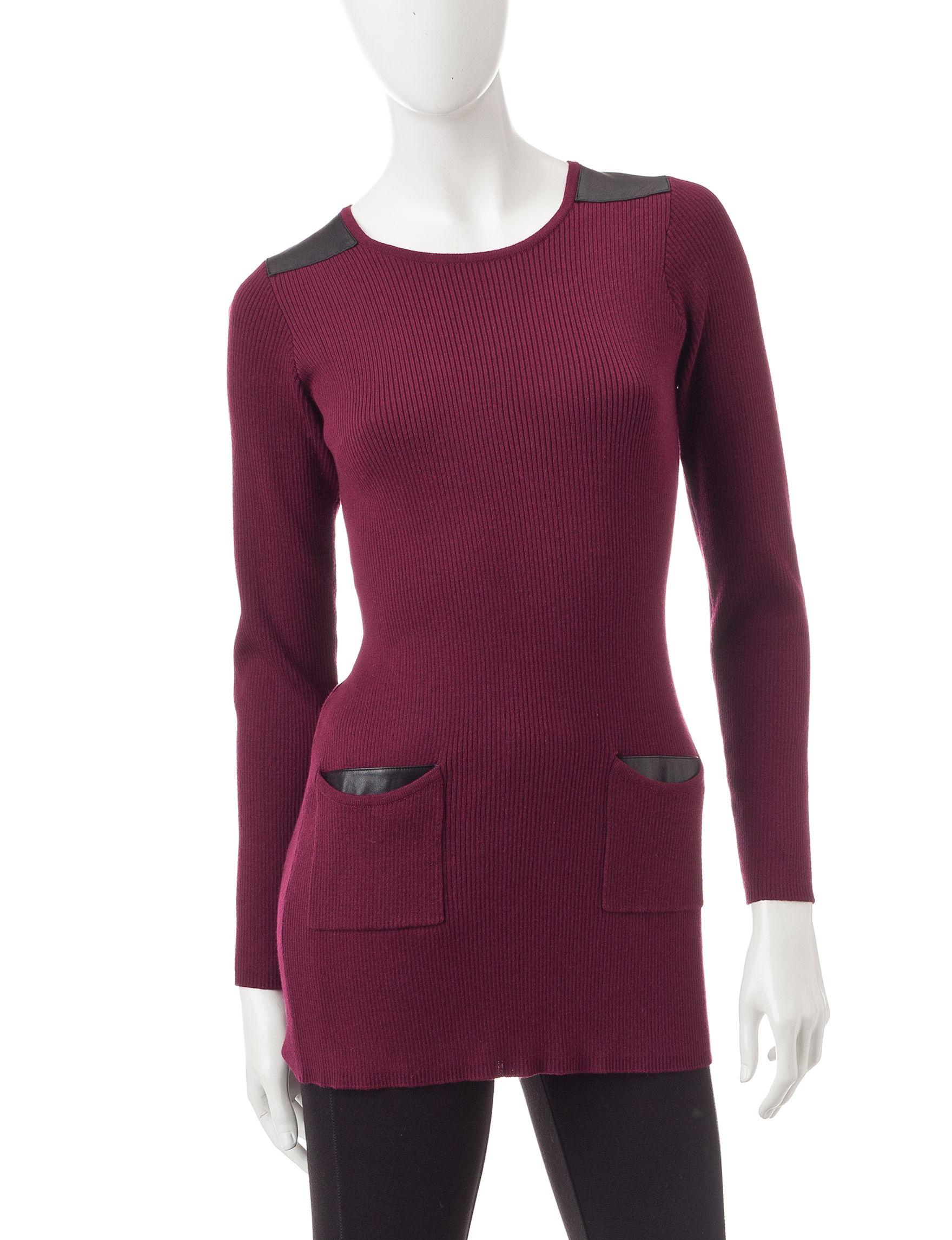 A. Byer Dark Red Sweaters Tunics
