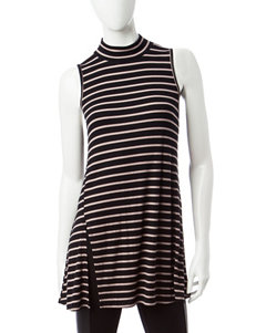 Signature Studio Black & Tan Striped TOp