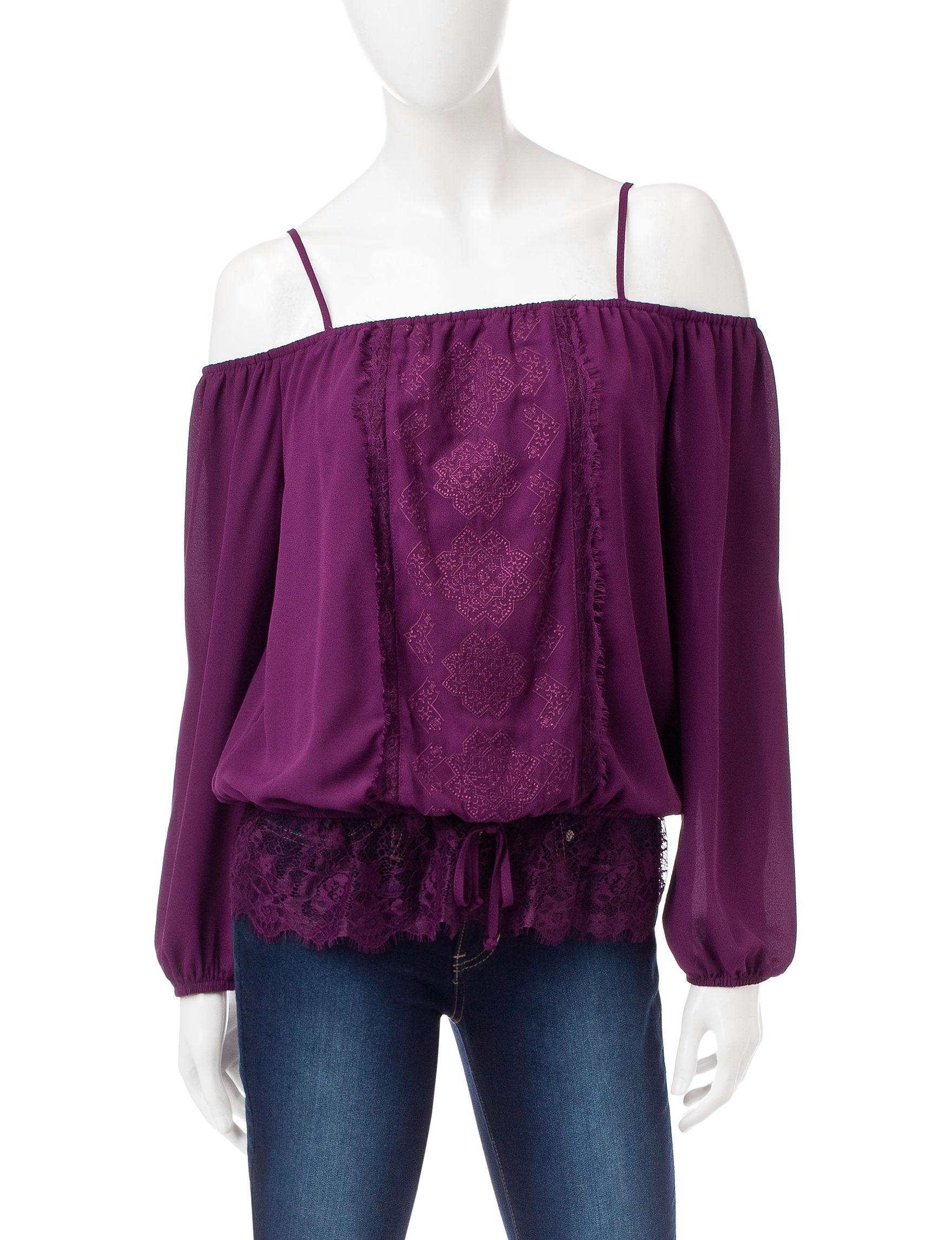 My Michelle Purple Shirts & Blouses