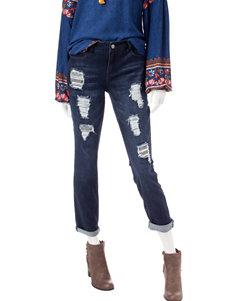 Signature Studio Destructed Rhinestone Jeans