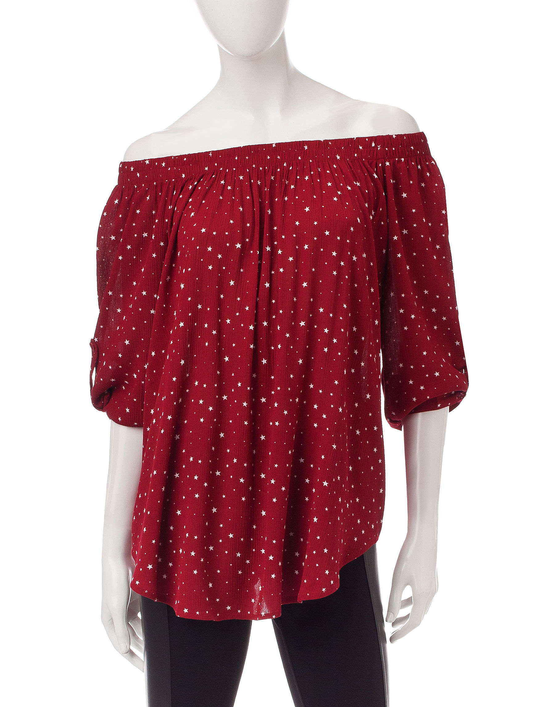 Signature Studio Red Shirts & Blouses
