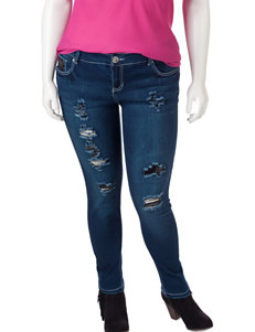 Amethyst Juniors-plus Dark Wash Jeggings