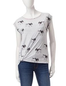 Buffalo Blu Heather Grey Everyday & Casual Shirts & Blouses