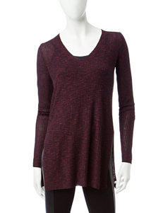 Signature Studio Purple Marled Knit Top