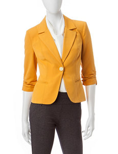 XOXO Yellow Ruched Blazer