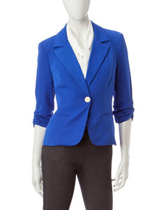 XOXO Blue Ruched Blazer