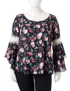 Heart Soul Burgundy Multi Shirts & Blouses