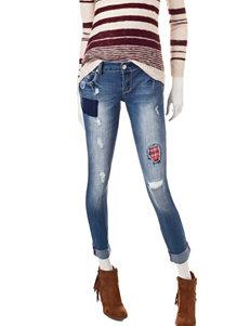 Amethyst Medium Wash Destructed Jeans