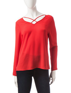 Wishful Park Red Criss Cross Top