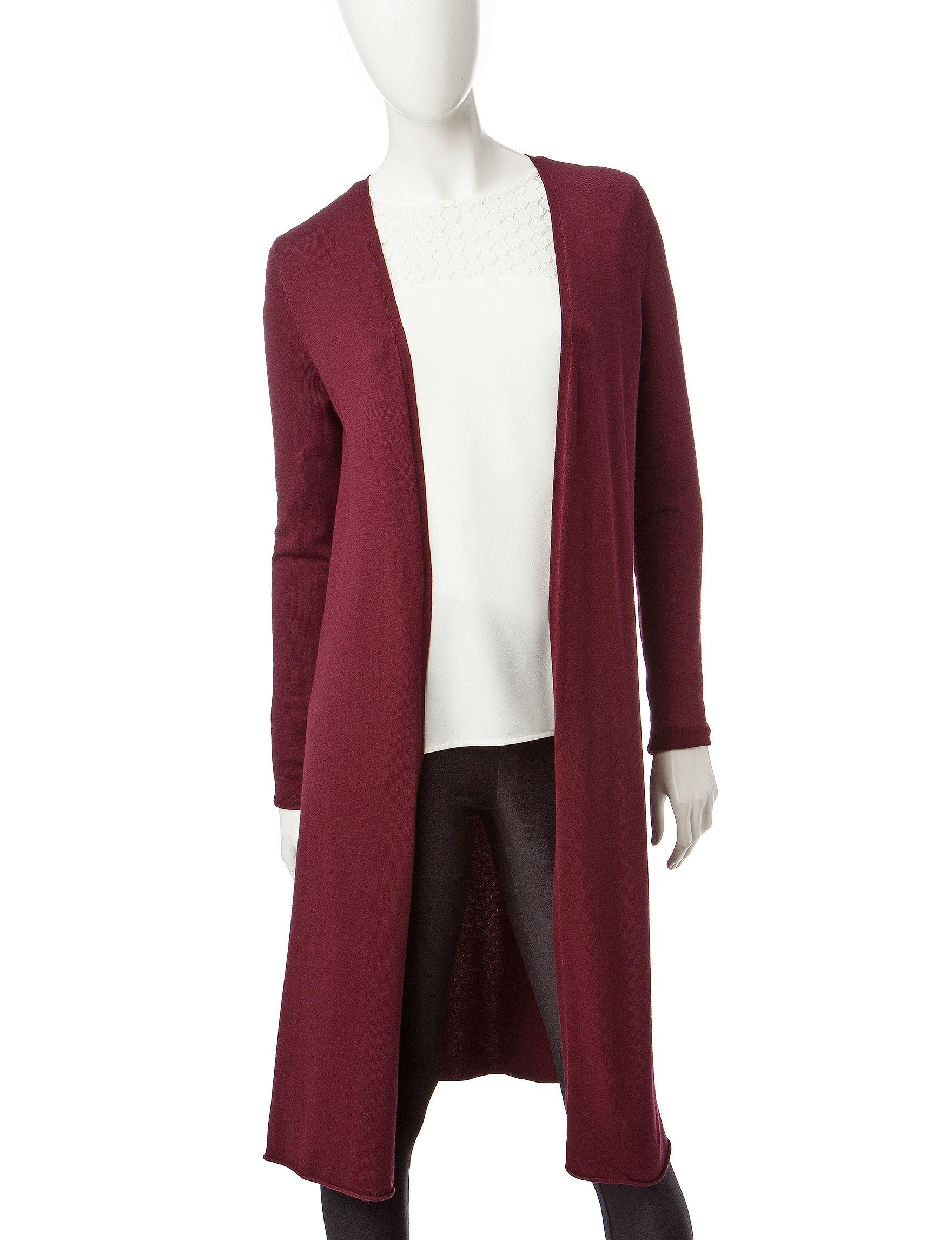 Kensie Red Cardigans Sweaters