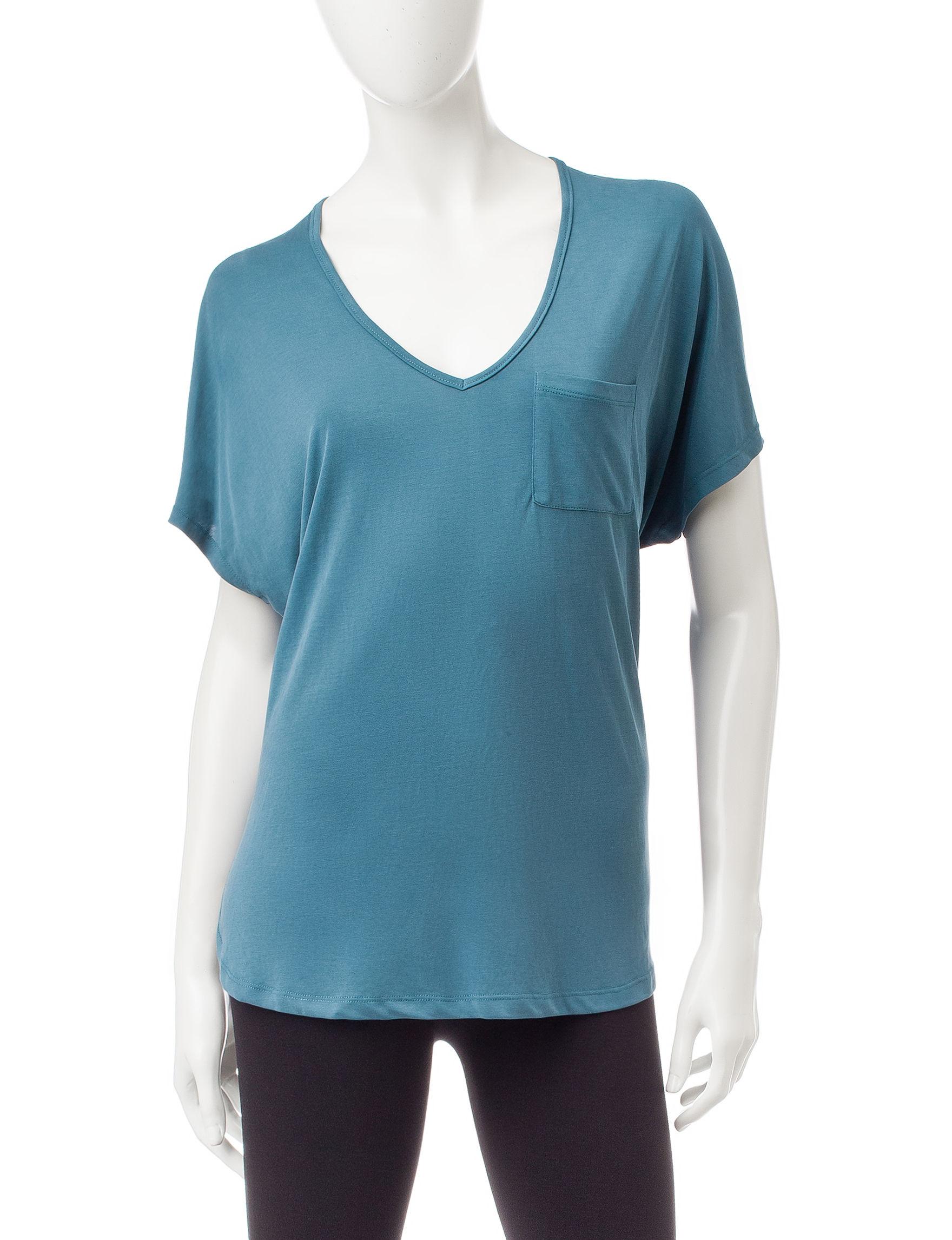 Wishful Park Turquoise Shirts & Blouses