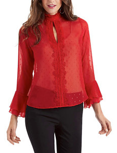 XOXO Red Shirts & Blouses