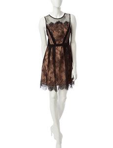 XOXO Black Fit & Flare Dresses