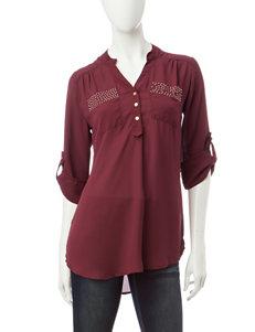 Wishful Park Burgundy Shirts & Blouses