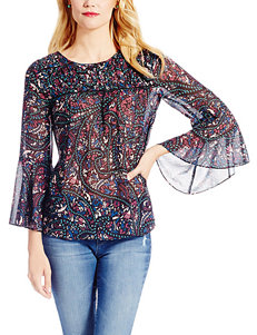 Jessica Simpson Multicolor Abstract Print Top